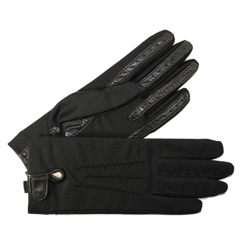 gants femme stretch avec doigts cuir glove story tous les gants. Black Bedroom Furniture Sets. Home Design Ideas