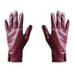 Gants Cuir Tactiles Femme Rouge