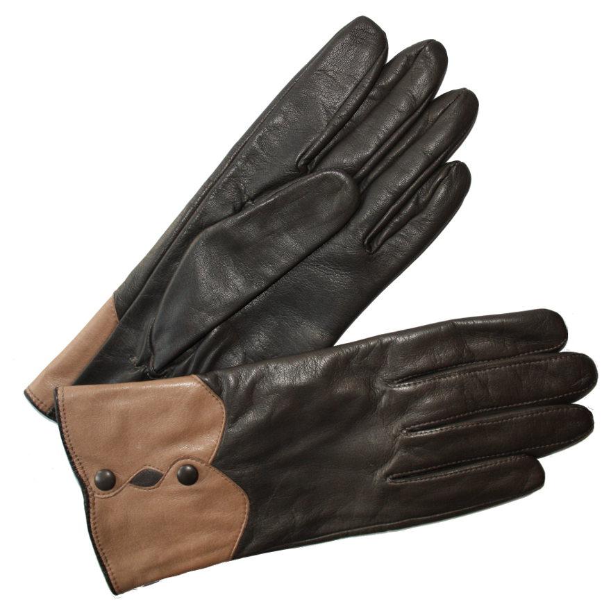 gant cuir bicolore agneau femme glove story tous les gants. Black Bedroom Furniture Sets. Home Design Ideas