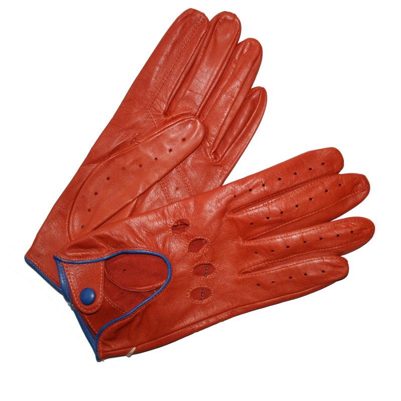 gants de conduite femme cuir orange glove story tous les gants. Black Bedroom Furniture Sets. Home Design Ideas