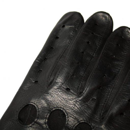 Finition Gant de Conduite en Cuir Noir