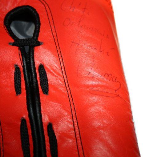 Gants de Boxe Cuir Dédicacés Myriam Chomaz Limited Edition 2006 Paris