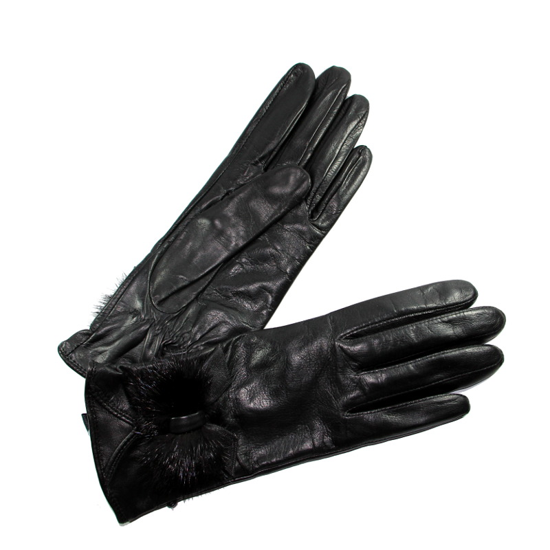 gants cuir agneau noeud vision noir glove story tous les gants. Black Bedroom Furniture Sets. Home Design Ideas