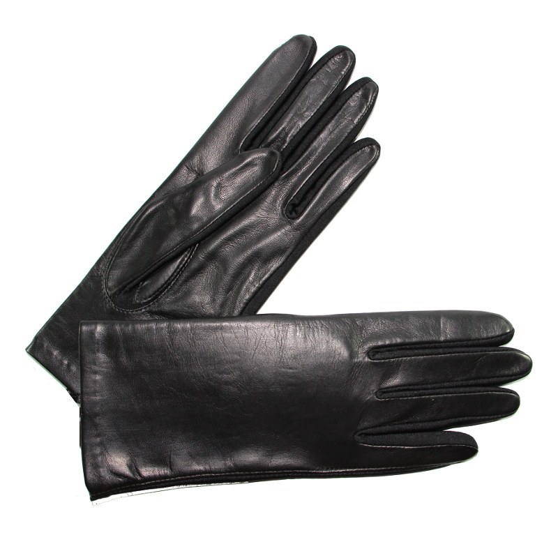 gants cuir et fourchette lycra femme noir glove story tous les gants. Black Bedroom Furniture Sets. Home Design Ideas