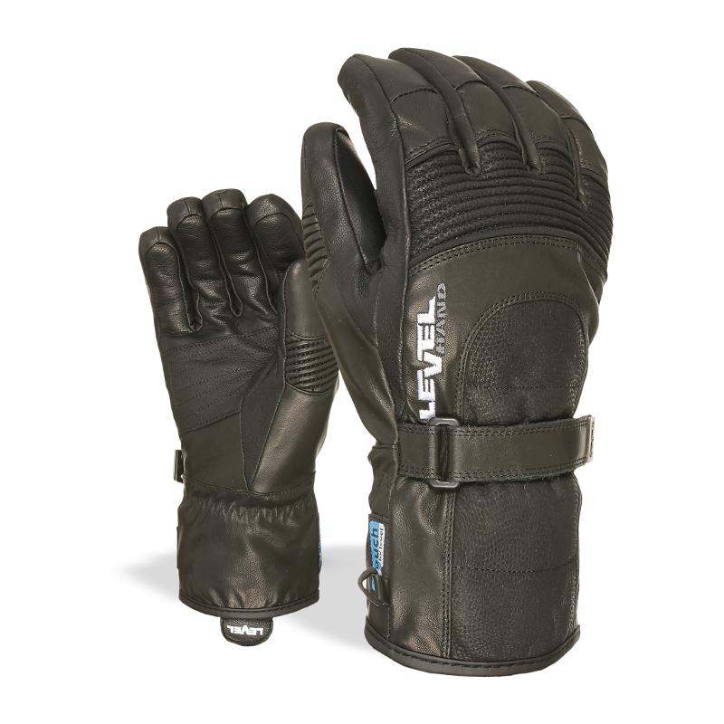 gants en cuir de ski et snow bomber black level tous les. Black Bedroom Furniture Sets. Home Design Ideas