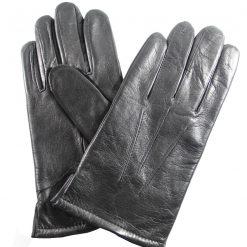 Gants homme cuir noir chaud