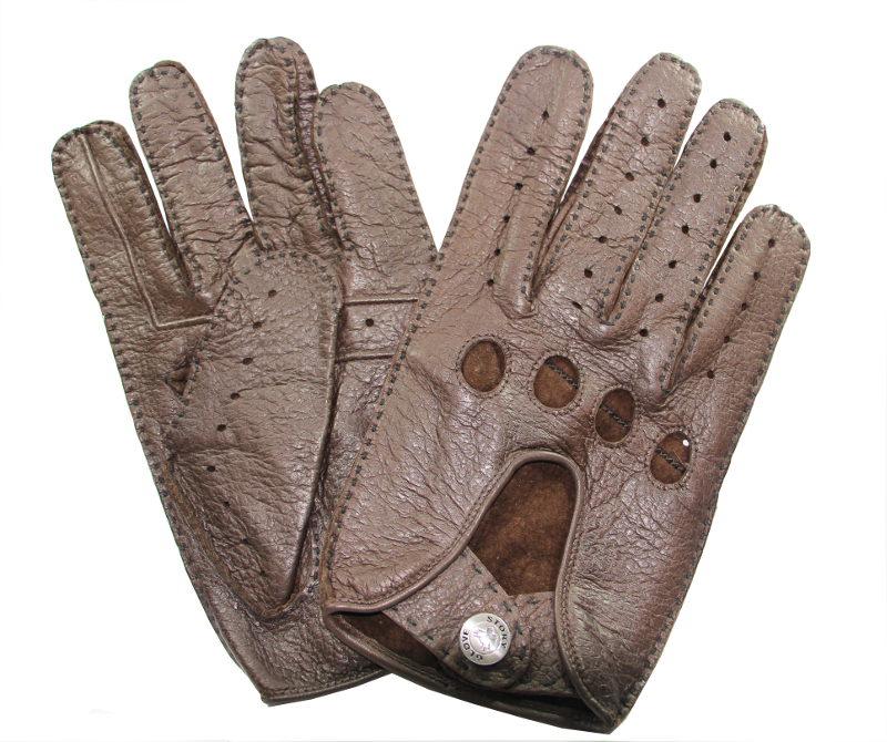 gants de conduite cuir p cari homme brun tous les gants. Black Bedroom Furniture Sets. Home Design Ideas