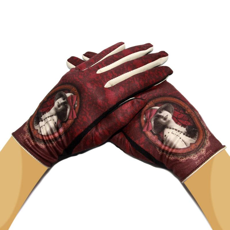gants femme cuir et imprim vintage marante brokante tous les gants. Black Bedroom Furniture Sets. Home Design Ideas