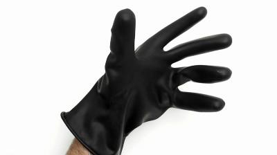Gants protection chimique courts