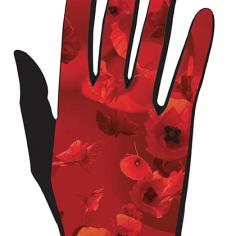 gant femme coquelicot