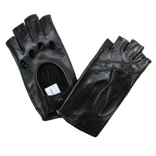 Gant Conduite Cuir Agneau Femme Noir Glove Story