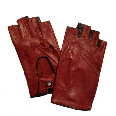 Mitaines femme Cuir Rouge Bordeaux Glove Story