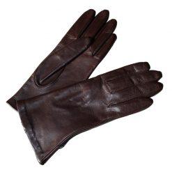 Gants Cuir Femme doublés Soie Cognac Glove Story