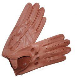 Gant Conduite Cuir Agneau Femme Corail Glove Story