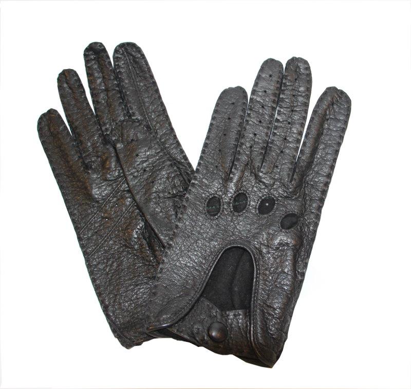 Gants de Conduite Cuir Pécari Femme Noir - Tous Les Gants 34c8199d78c